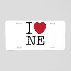 I Love NE Nebraska Aluminum License Plate
