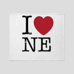 I Love NE Nebraska Throw Blanket