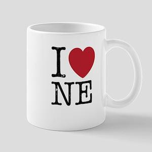 I Love NE Nebraska Mug