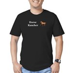 Horse Rancher Men's Fitted T-Shirt (dark)
