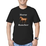 Horse Rancher Men's Fitted T-Shirt (dark)
