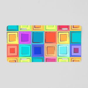 Colorful Retro Aluminum License Plate