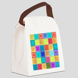 Colorful Retro Canvas Lunch Bag