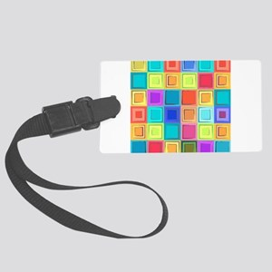 Colorful Retro Luggage Tag