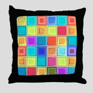 Colorful Retro Throw Pillow