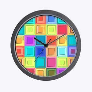 Colorful Retro Wall Clock