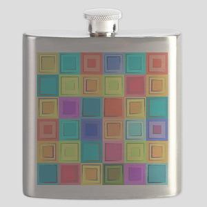 Colorful Retro Flask
