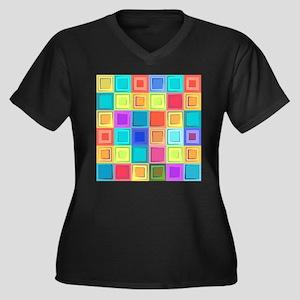 Colorful Retro Plus Size T-Shirt