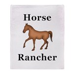 Horse Rancher Throw Blanket