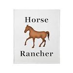Horse Rancher Throw Blanket