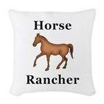Horse Rancher Woven Throw Pillow
