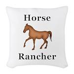 Horse Rancher Woven Throw Pillow