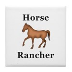 Horse Rancher Tile Coaster