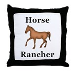 Horse Rancher Throw Pillow