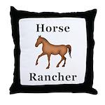 Horse Rancher Throw Pillow