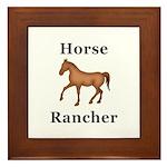 Horse Rancher Framed Tile