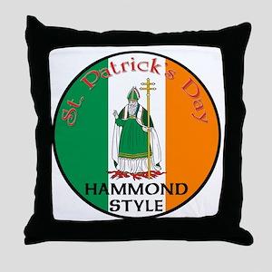 Hammond, St. Patrick's Day Throw Pillow