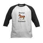 Horse Trainer Kids Baseball Jersey