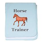 Horse Trainer baby blanket