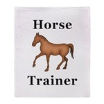 Horse Trainer Throw Blanket