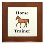 Horse Trainer Framed Tile