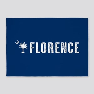 Florence, South Carolina 5'x7'Area Rug