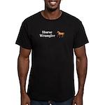 Horse Wrangler Men's Fitted T-Shirt (dark)