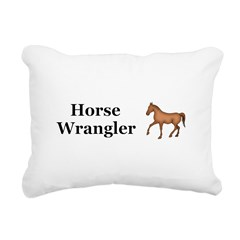 Horse Wrangler Rectangular Canvas Pillow