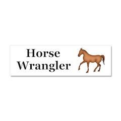 Horse Wrangler Car Magnet 10 x 3
