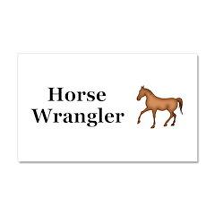 Horse Wrangler Car Magnet 20 x 12
