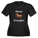 Horse Wrangl Women's Plus Size V-Neck Dark T-Shirt
