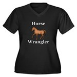 Horse Wrangl Women's Plus Size V-Neck Dark T-Shirt