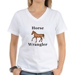 Horse Wrangler Women's V-Neck T-Shirt