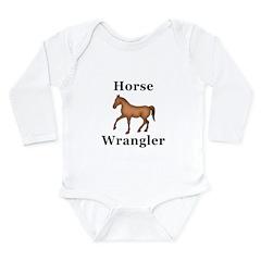 Horse Wrangler Long Sleeve Infant Bodysuit