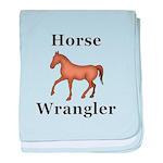 Horse Wrangler baby blanket