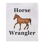 Horse Wrangler Throw Blanket