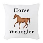 Horse Wrangler Woven Throw Pillow