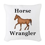 Horse Wrangler Woven Throw Pillow
