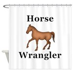 Horse Wrangler Shower Curtain