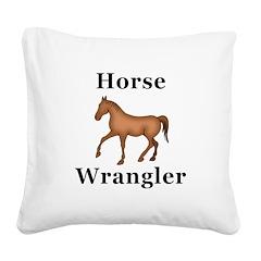Horse Wrangler Square Canvas Pillow