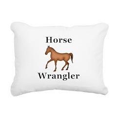 Horse Wrangler Rectangular Canvas Pillow
