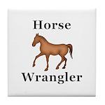 Horse Wrangler Tile Coaster