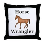 Horse Wrangler Throw Pillow