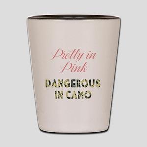 Dangerous in Camo Shot Glass
