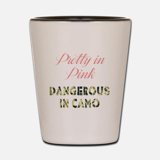 Dangerous in Camo Shot Glass