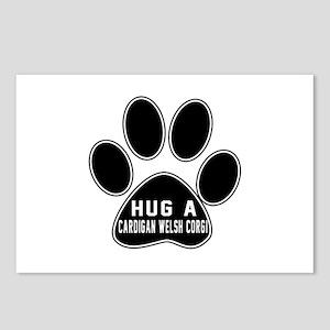 Hug A Cardigan Welsh Corg Postcards (Package of 8)