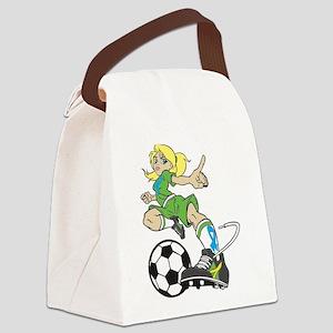 SOCCER GIRL Canvas Lunch Bag