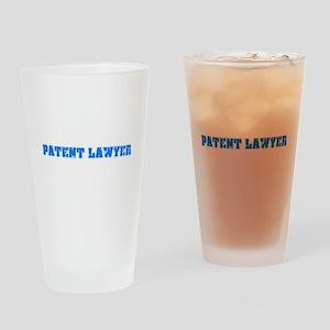 Patent Lawyer Blue Bold Design Drinking Glass