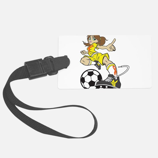 SOCCER GIRL Luggage Tag