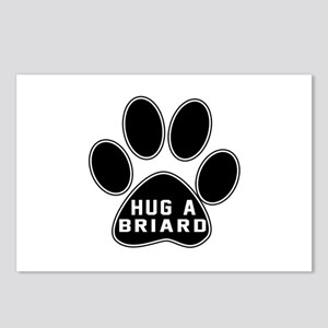 Hug A Briard Dog Postcards (Package of 8)
